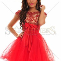 Sherri Hill 21284 Red Dress Zipper fastening