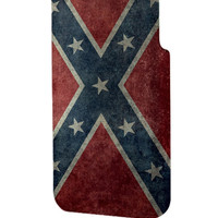 Best 3D Full Wrap Phone Case - Hard (PC) Cover with Confederate Rebel Flag Design