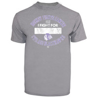 Chicago Blackhawks Old Time Hockey Hockey Fights Cancer Apollo I Fight For T-Shirt - Gray