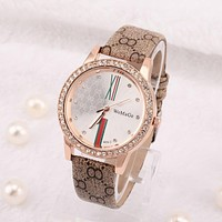 Top Brand Watch Women Watches Luxury Rhinestone Women's Watches Leather Clock saat relogio feminino reloj mujer montre femme