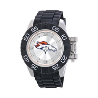 Game Time Beast Series Denver Broncos Stainless Steel Watch - NFL-BEA-DEN - Men (Black)