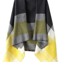 Yellow Color Block Stripe Scarf