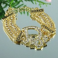 8DESS COACH Woman Accessories Fine Jewelry Chain Bracelet
