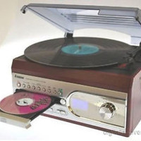 Steepletone SMC99R Rosewood Compact Recordable Music Centre Record CD/LP to MP3