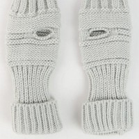 Light Grey Ribbed Knit Arm Warmers