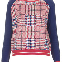 Sporty Check Jumper - Red