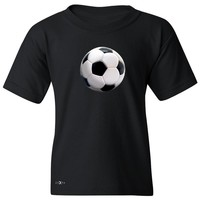 """Zexpa Apparelâ""""¢ Real 3D Soccer Ball Youth T-shirt Soccer Cool Embossed Tee"""