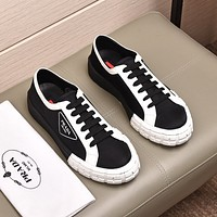 prada men fashion boots fashionable casual leather breathable sneakers running shoes 68