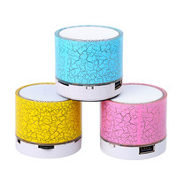 Mini LED Light Bluetooth Speaker Handsfree Stereo Music Speakers Portable Wireless Colorful Loudspeakers Subwoofer support TF