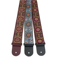 "Perri's Adjustable Tri-Glide 2.5"" Woven Guitar Strap with Cotton Backing and Original Henry Heller Vintage I 