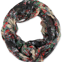 D&Y Multicolor Impressionist Floral Infinity Scarf