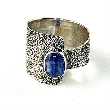 Kyanite Sterling Silver Two Halves Ring