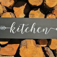 Kitchen Sign Black