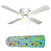 """Finding Nemo and Squirt 42"""" Ceiling Fan and Lamp"""