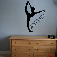Custom Ballerina Decal - Personalized - Wall Art - Kids Room - Custom Kid Name - Custom Decal - Gift Idea - Kids Room Decor - Playroom