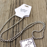 Emily Silver Love My Tribe Necklace