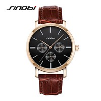 Casual Wrist Watches For Men Top Luxury Leather Strap Quartz Watch Man Dress Watch Waterproof Males Clocks