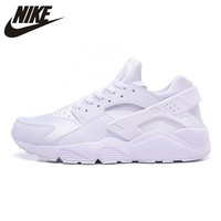 Original New Arrival Official NIKE AIR HUARACHE Men's Women's Running Shoes Sneakers white 318429-016 36-45