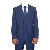 Mens Royal Blue 3 Piece Suit Regular Ideal For Weddings, School Proms (Rambo)