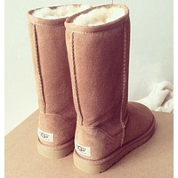 UGG classic wool high boots F Shoes Beige