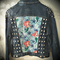 The Little Mermaid Spiked and Studded Denim Jacket