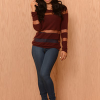 Now You See Me Sweater- Burgundy