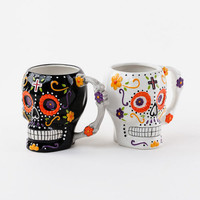 Sugar Skull Coffee Mug by One Hundred 80 Degrees