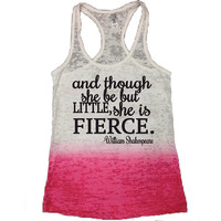 She is Fierce Gym Tank. ladies tank. athletic tank. athletic shirt. yoga ladies tank. burnout tank. soft tank. funny tank. sexy tank