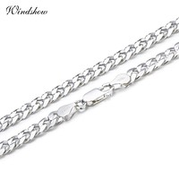 Women / Men Unisex Pure 925 Sterling Silver Curb Chain Link Necklace