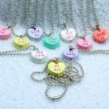 Say It with Your Heart Ball & Chain Valentine Necklace