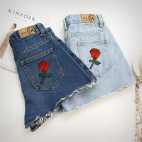 Embroidery Flower Fashion Shorts