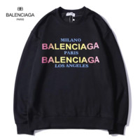 Balenciaga New fashion multicolor letter print long sleeve top sweater Black