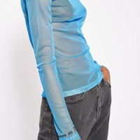 Embroidered Mesh Roll Neck Top by Boutique - New In This Week - New In