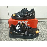 """Nike Air Force 1"" Unisex Lover Casual Fashion Personality Graffiti Letter Plate Shoes Sneakers"