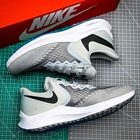 Hipgirls NIKE ZOOM WINFLO 6 New fashion hook print running leisure shoes Gray