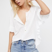 Free People Down the Shore Henley