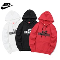 NIKE 2018 autumn and winter new men and women models headband loose hoodie