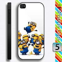 Thrown Up Despicable Me Minions Banana Apple iPhone 5 Hard Case
