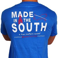"""Made in the South"" Pocket Tee in Boardwalk Blue by High Cotton"
