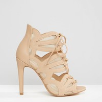 New Look Wide Fit Lace Up Heeled Sandal