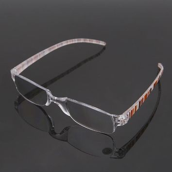 Unisex Clear Stripe Rimless Flexible Reading Glasses Eyewear Reader +1.00 ~+4.00 W715