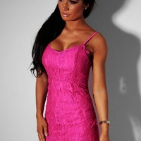 Barbie Pink Lace Sweetheart Mini Dress   Pink Boutique