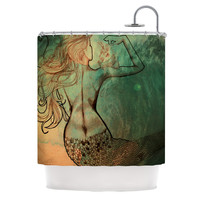 "Theresa Giolzetti ""Poor Mermaid"" Shower Curtain"