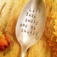 Censored Gifts, Hand Stamped Spoon, Racy Gifts, Gifts For Best Friends, Girlfriend Gifts, Gag Gifts, Gag Gifts, Adult Gifts, Birthday Gifts
