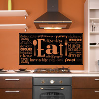 Vinyl Wall Decal Sticker Eating Words #5193