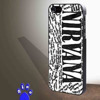 Nirvana all member and song titles collage  for iphone 4/4s/5/5s/5c/6/6+, Samsung S3/S4/S5/S6, iPad 2/3/4/Air/Mini, iPod 4/5, Samsung Note 3/4 Case * NP*