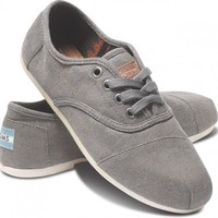 Taupe Waxed Twill Women's Cordones | TOMS.com