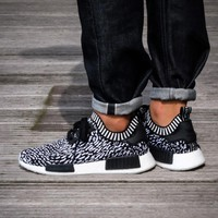 Best Online Sale Adidas NMD R1 PK Core Black / Footwear White BY3013  Boost Sport Running Shoes Classic Casual Shoes Sneakers