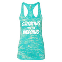 Gym Tank Womens Workout Tank Sweating For The Wedding Burnout Racerback Gym Tank Work Out Clothes B05