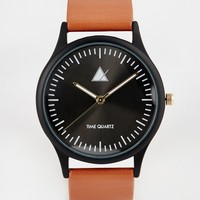 ASOS Watch With Black Case And Tan Strap